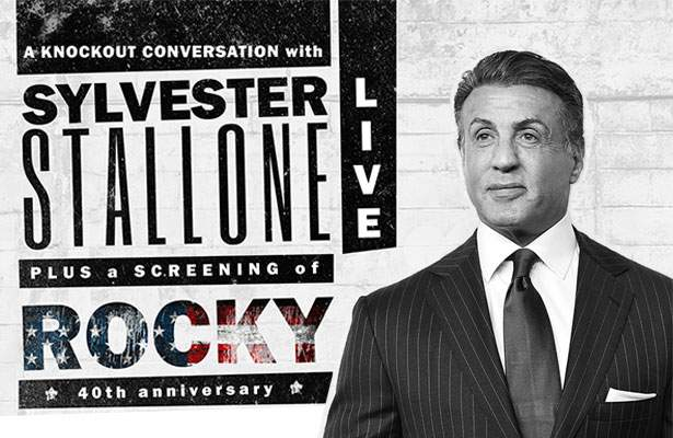 rocky 40th anniversary screening with sylvester stallone
