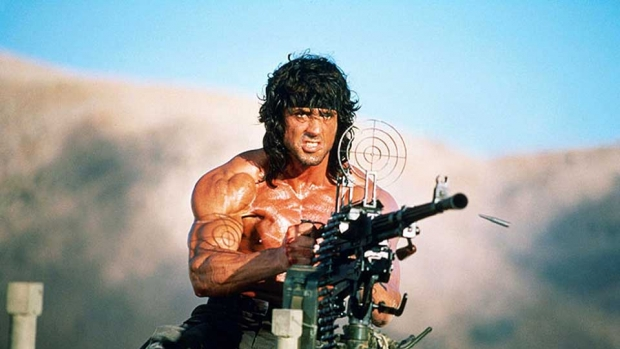 Rambo carving in Hope B.C.